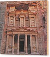 Petra Treasury Wood Print by Tony Beck
