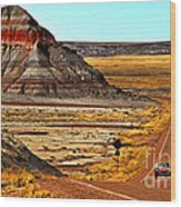 Petrified Forrest Highway-1964 Shelby 289 Cobra Wood Print
