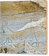 Petroglyphs At Petroglyph Point In Lava Beds Nmon-ca Wood Print