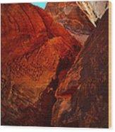 Petroglyphs Valley Of Fire Nevada Wood Print