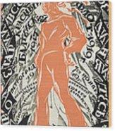 Petrograd Red Seventh November Revolutionary Poster Depicting A Russian Sailor Wood Print