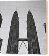 Petronas Dusk Wood Print