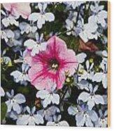 Petunia And Friends Wood Print