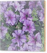 Petunia Patch Wood Print