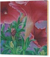 Petunia Skies Wood Print