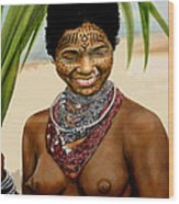 Peul  Princess Of Mali Wood Print