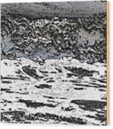 Pewter Martian Sea Wood Print