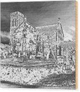 Pewter Skies Over The Kirk Wood Print