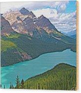 Peyto Lake Along Icefield Parkway In Alberta-canada Wood Print