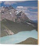 Peyto Lake And Caldron Peak Wood Print