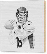 Peyton Manning Wood Print by Don Medina