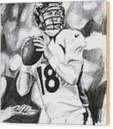 Peyton Manning Wood Print