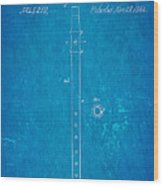 Pfaff Fife Patent Art 1864 Blueprint Wood Print