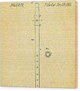 Pfaff Fife Patent Art 1864 Wood Print