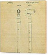 Pfaff Flute Patent Art 1857 Wood Print