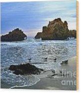 Pfeiffer Beach Big Sur Twilight Wood Print