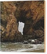 Pfeiffer Beach Rocks In Big Sur Wood Print