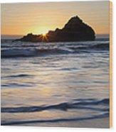 Pfeiffer Beach Sunset II Wood Print by Jenna Szerlag