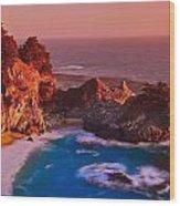 Pfeiffer Falls - Big Sur Ca Wood Print