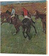 Pferderennen Vor Dem Start Wood Print
