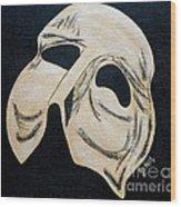 Phantom Mask Wood Print