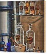 Pharmacist - Medicine Bottles Wood Print