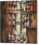 Pharmacist - Various Potions Wood Print by Mike Savad