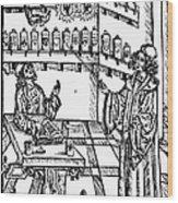 Pharmacy, 1500 Wood Print