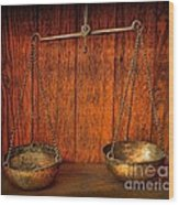 Pharmacy -apothecary Scale Wood Print