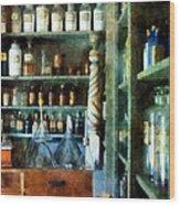 Pharmacy - Back Room Of Drug Store Wood Print