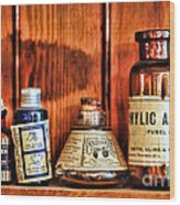 Pharmacy - Cocaine In A Bottle Wood Print