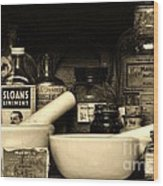 Pharmacy - Cod Liver Oil And More Wood Print