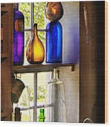 Pharmacy - Colorful Glassware  Wood Print