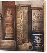 Pharmacy - Cures For The Bowels Wood Print