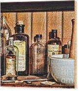 Pharmacy - Mixing Bowl Wood Print