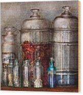 Pharmacy - Mysterious Pebbles Powders And Liquids Wood Print