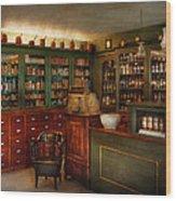 Pharmacy - Patent Medicine  Wood Print by Mike Savad