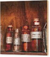 Pharmacy - Pharmacist's Fancy Fluids Wood Print