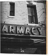 Pharmacy - Storefronts Of New York Wood Print