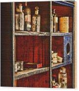 Pharmacy - The Back Room Wood Print
