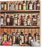 Pharmacy - The Medicine Shelf Wood Print