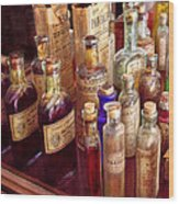 Pharmacy - The Selection  Wood Print by Mike Savad