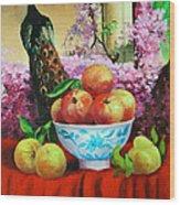 Pheasant And Fruit Wood Print