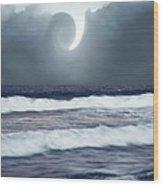 Phenomenon Above The Sea Wood Print