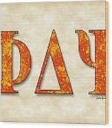 Phi Delta Psi - Parchment Wood Print