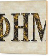 Phi Eta Mu - Parchment Wood Print
