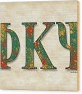 Phi Kappa Psi - Parchment Wood Print