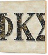 Phi Kappa Sigma - Parchment Wood Print