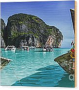 Phi Phi Islands Wood Print by Shannon Rogers