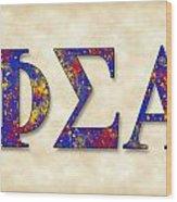 Phi Sigma Alpha - Parchment Wood Print
